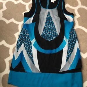 Eci geometric print dress